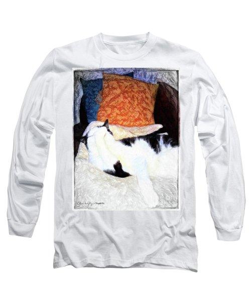 Cat Nap - Zen And The Art Of Washing Long Sleeve T-Shirt