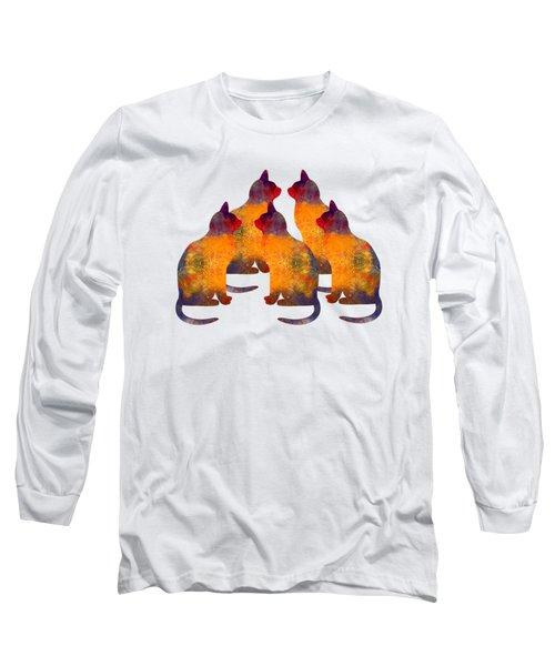 Cat Pyramid Long Sleeve T-Shirt