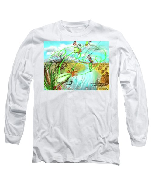 Catails And Flys Long Sleeve T-Shirt