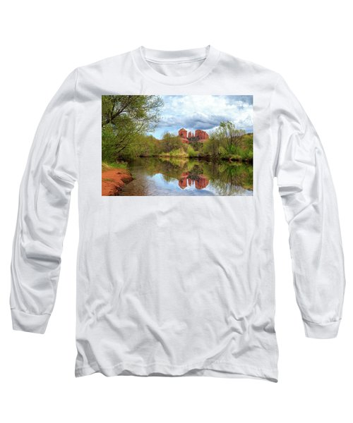 Long Sleeve T-Shirt featuring the photograph Cathedral Rock Reflection by James Eddy