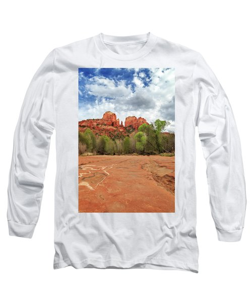 Long Sleeve T-Shirt featuring the photograph Cathedral Rock Sedona by James Eddy
