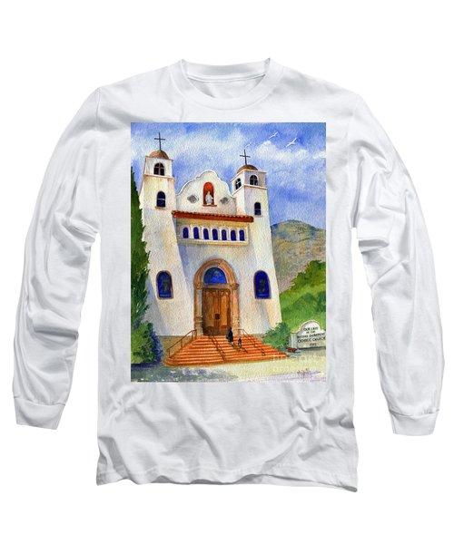 Catholic Church Miami Arizona Long Sleeve T-Shirt by Marilyn Smith