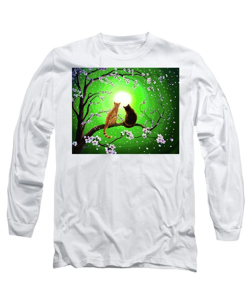 Cats On A Spring Night Long Sleeve T-Shirt