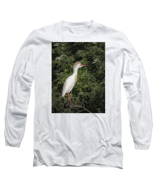 Long Sleeve T-Shirt featuring the photograph Cattle Egret by Tyson and Kathy Smith