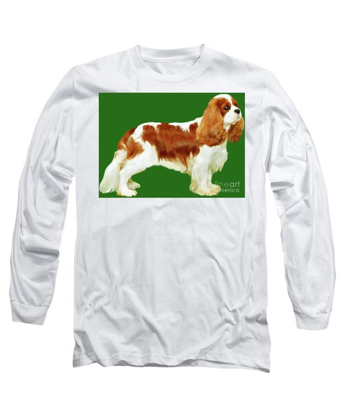 Long Sleeve T-Shirt featuring the painting Cavalier King Charles Spaniel by Marian Cates