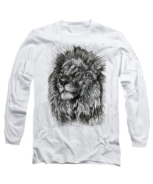 Cecil The Lion Long Sleeve T-Shirt by Michael Volpicelli