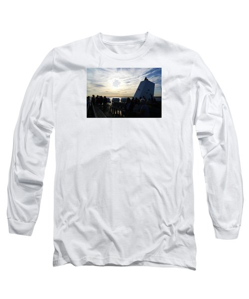 Long Sleeve T-Shirt featuring the photograph Celebrating The Sunset by Margie Avellino