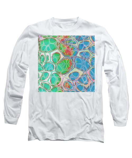 Cell Abstract 10 Long Sleeve T-Shirt by Edward Fielding