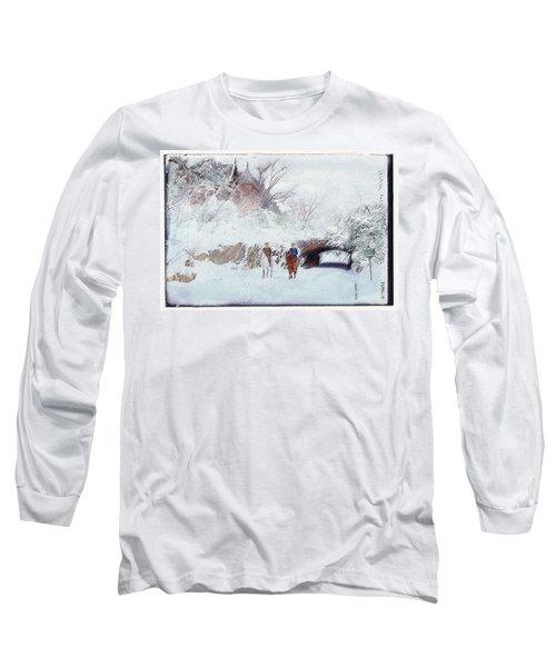 Central Park Snow Long Sleeve T-Shirt