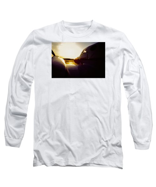 Cessna 421c Golden Eagle IIi Silhouette Long Sleeve T-Shirt
