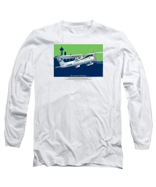 Cessna Skyhawk 172 Long Sleeve T-Shirt