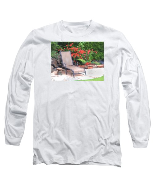 Long Sleeve T-Shirt featuring the photograph Chair Waiting by Susan Crossman Buscho
