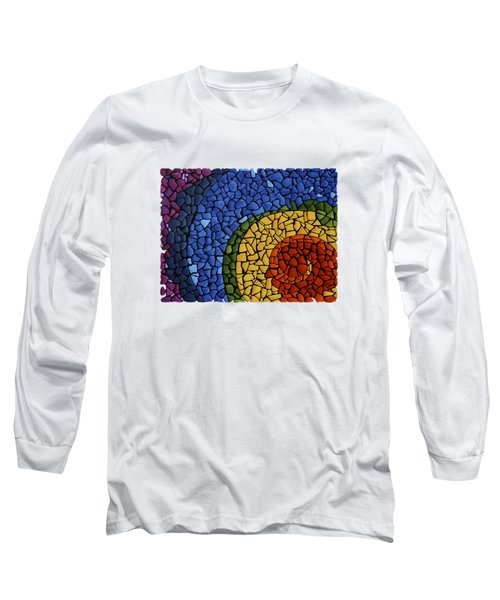 Long Sleeve T-Shirt featuring the painting Chakra Swirl by Deborha Kerr