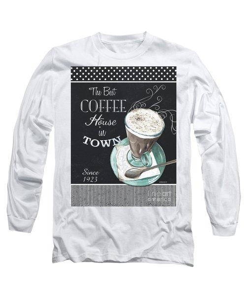 Chalkboard Retro Coffee Shop 2 Long Sleeve T-Shirt