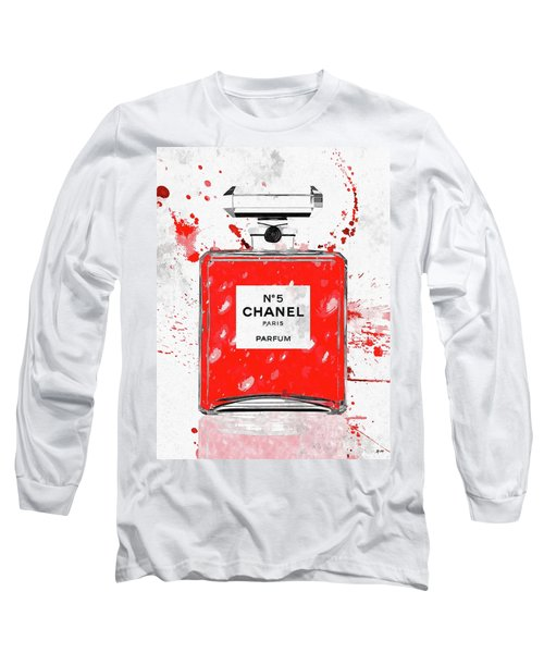 Chanel No 5 Red Long Sleeve T-Shirt