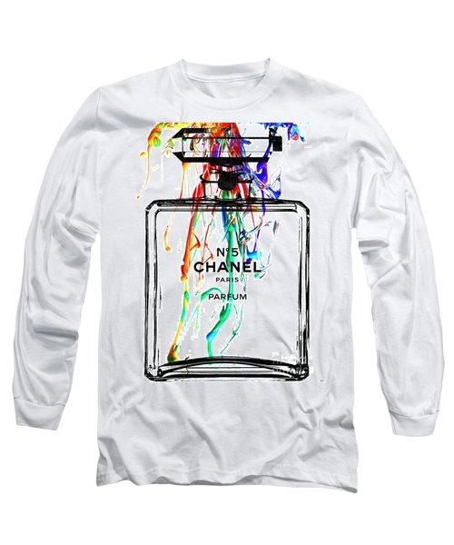 Chanel No. 5 Watercolor Long Sleeve T-Shirt