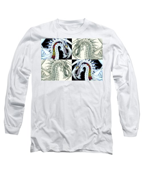 Long Sleeve T-Shirt featuring the digital art Chaos Dragon Fact Vs Fiction by Shawn Dall