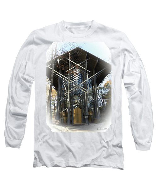 Chapel In The Woods Long Sleeve T-Shirt by Lena Wilhite