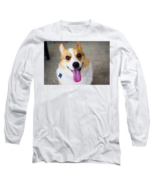 Charlie The Corgi Long Sleeve T-Shirt