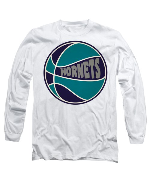 Charlotte Hornets Retro Shirt Long Sleeve T-Shirt by Joe Hamilton