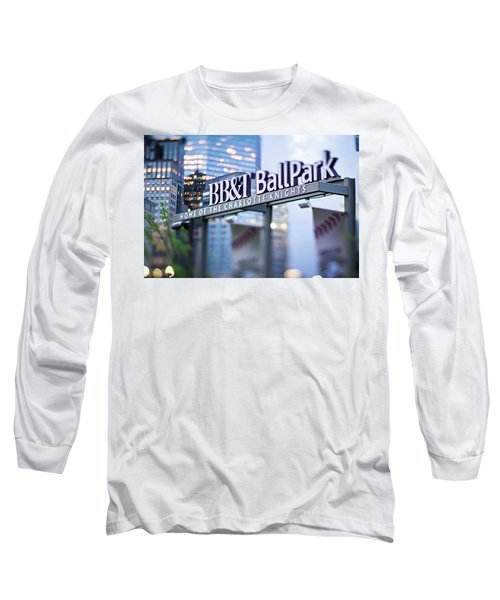 Charlotte Nc Usa  Bbt Baseball Park Sign  Long Sleeve T-Shirt