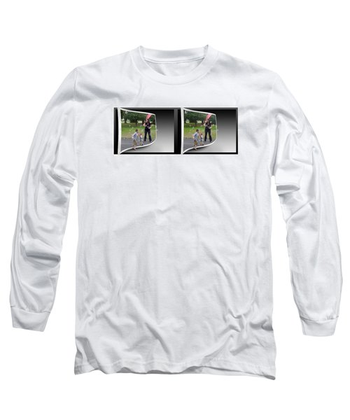 Long Sleeve T-Shirt featuring the photograph Chasing Bubbles - Gently Cross Your Eyes And Focus On The Middle Image by Brian Wallace