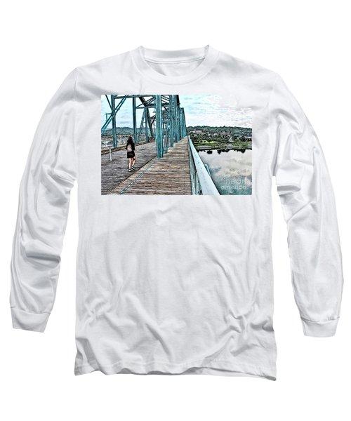 Chattanooga Footbridge Long Sleeve T-Shirt