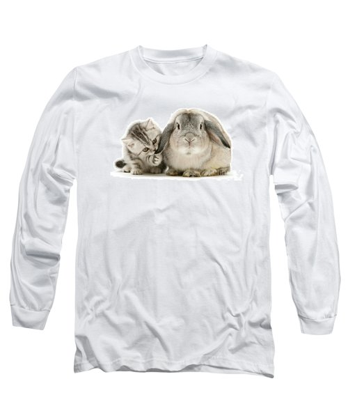 Checking For Grey Hares Long Sleeve T-Shirt