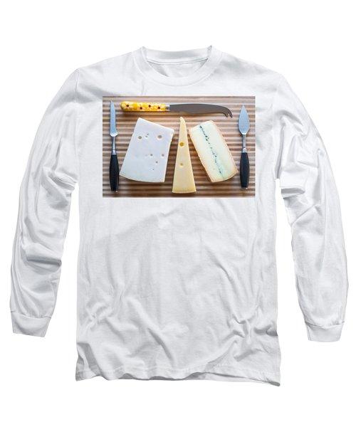 Long Sleeve T-Shirt featuring the photograph Cheese Board by Ari Salmela