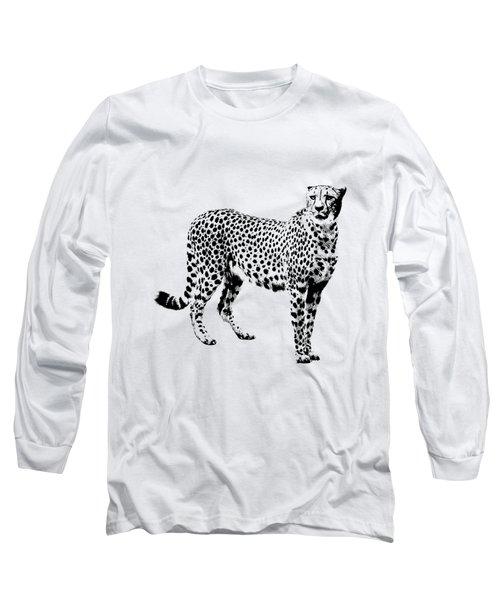Cheetah Cutout Long Sleeve T-Shirt by Greg Noblin