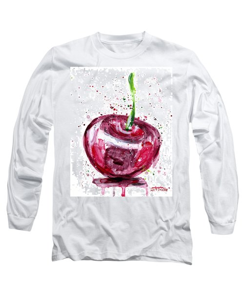 Cherry 1 Long Sleeve T-Shirt by Arleana Holtzmann