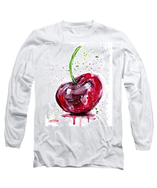 Cherry 2 Long Sleeve T-Shirt by Arleana Holtzmann