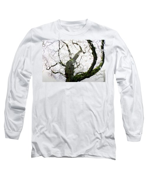 Long Sleeve T-Shirt featuring the photograph Cherry Blossoms by Peter Simmons