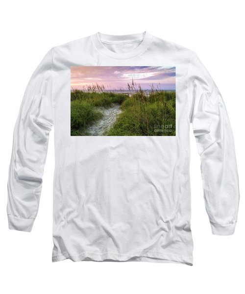 Cherry Grove Beach Scene Long Sleeve T-Shirt