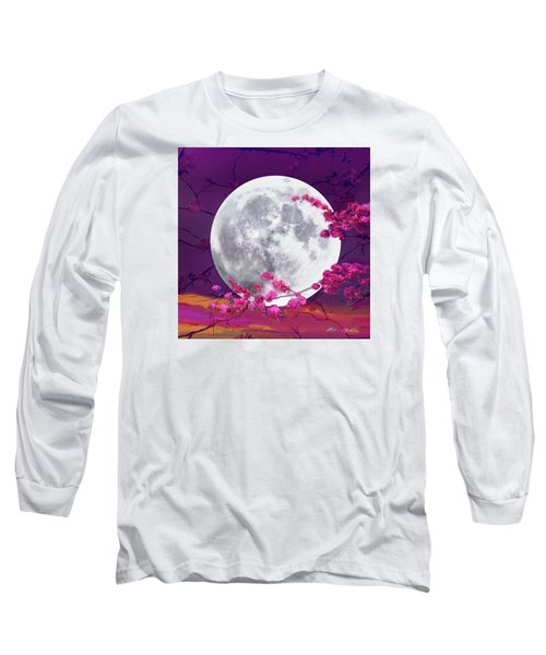 Cherry Moon  Long Sleeve T-Shirt by Robin Moline