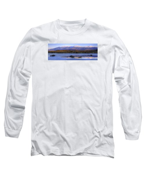 Cherry Pond Reflections Panorama Long Sleeve T-Shirt