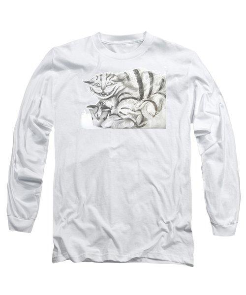 Chershire Cat  Long Sleeve T-Shirt by Meagan  Visser