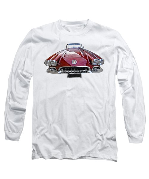 Chevrolet Corvette C1 1958 Head On Long Sleeve T-Shirt