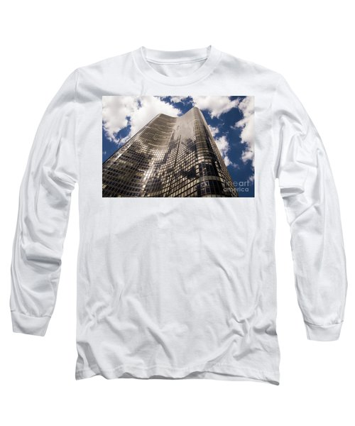 Long Sleeve T-Shirt featuring the photograph Chicago Building by Zawhaus Photography
