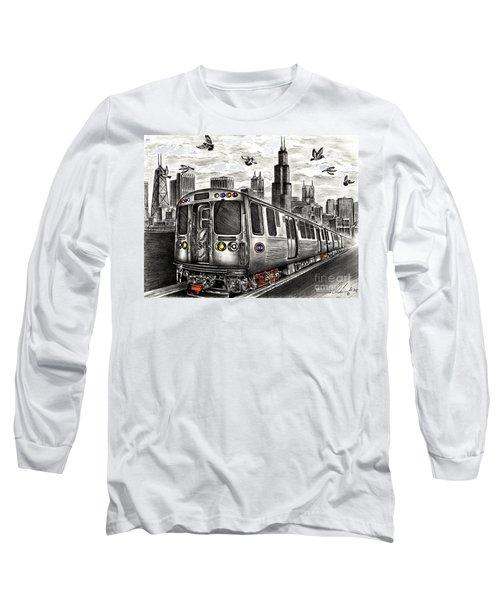 Chicago Cta Train Long Sleeve T-Shirt