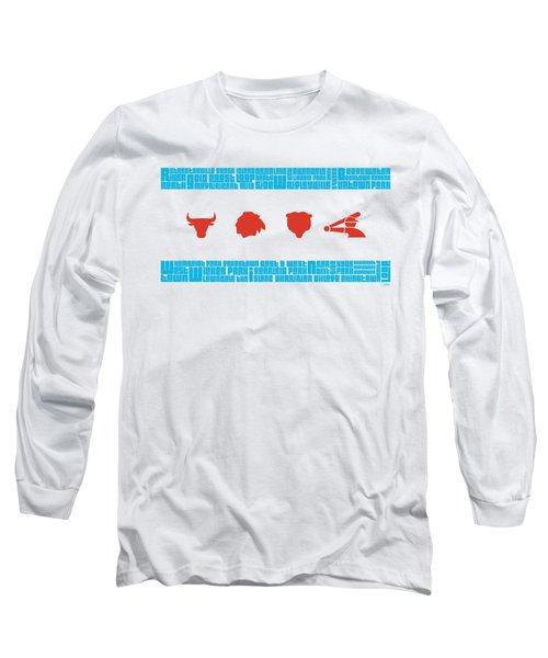 Chicago Flag Sports Teams V2 Long Sleeve T-Shirt