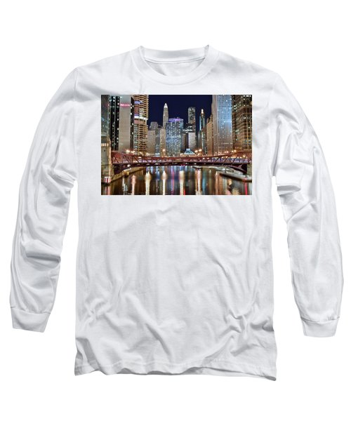 Chicago Full City View Long Sleeve T-Shirt by Frozen in Time Fine Art Photography