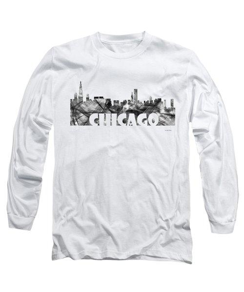 Chicago Illinios Skyline Long Sleeve T-Shirt