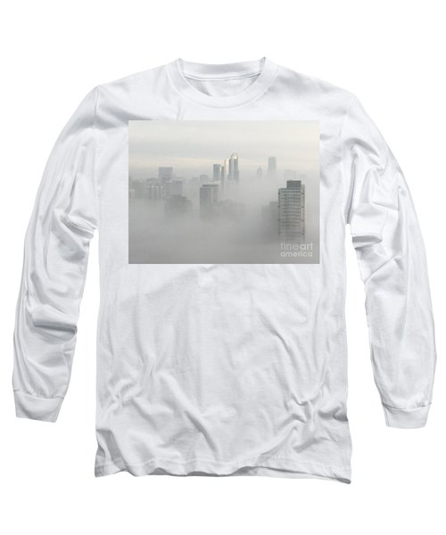 Chicago In The Clouds Long Sleeve T-Shirt by Kate Purdy