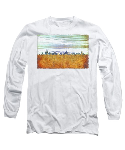 Chicago Skyline Long Sleeve T-Shirt by Di Designs