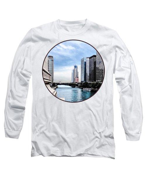 Chicago - View From Michigan Avenue Bridge Long Sleeve T-Shirt