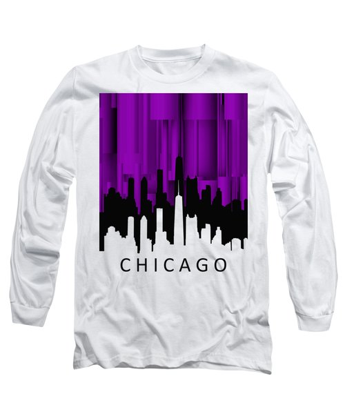Chicago Violet Vertical  Long Sleeve T-Shirt