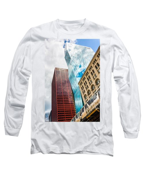 Chicago's South Wabash Avenue  Long Sleeve T-Shirt by Semmick Photo