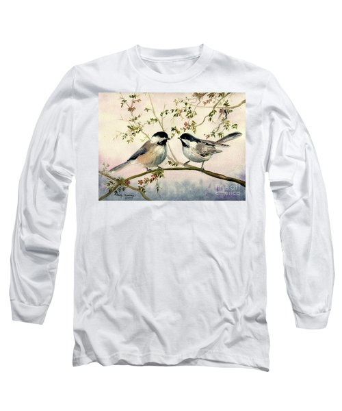 Chickadee Love Long Sleeve T-Shirt by Melly Terpening