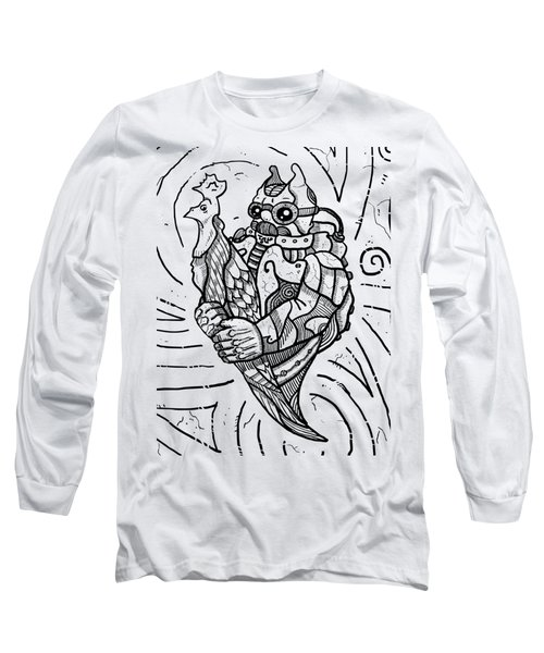Chicken Master Long Sleeve T-Shirt by Sotuland Art